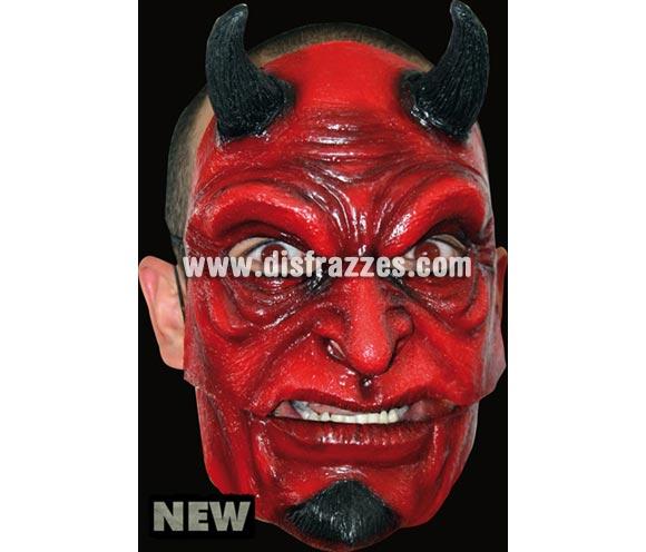 Máscara Devil de latex. Alta calidad. Fabricada en látex artesanalmente por una empresa que hace efectos especiales para Hollywood. Máscara de Diablo o Demonio de latex para Halloween. La boca se mueve cuando hablas.