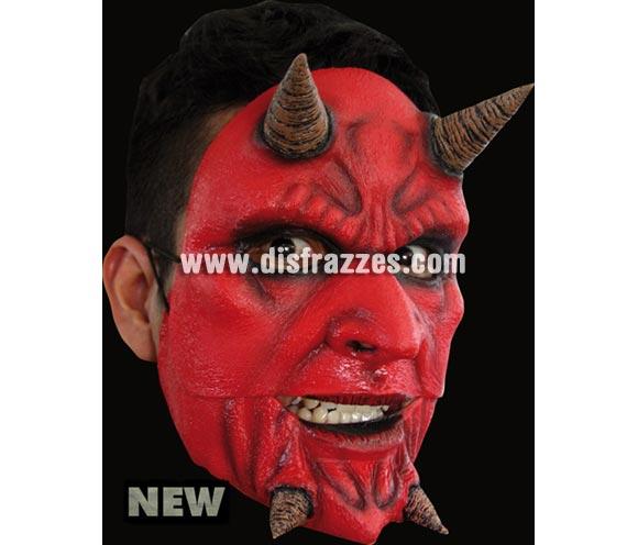 Máscara Demon de latex. Alta calidad. Fabricada en látex artesanalmente por una empresa que hace efectos especiales para Hollywood. Máscara de Demonio o Diablo de latex para Halloween. La boca se mueve cuando hablas.