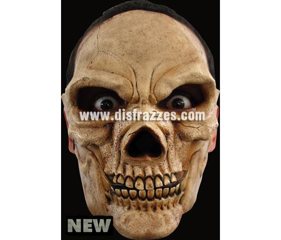 Máscara Skull de latex. Alta calidad. Fabricada en látex artesanalmente por una empresa que hace efectos especiales para Hollywood. Máscara Cráneo de Calavera de latex para Halloween. La boca se mueve cuando hablas.