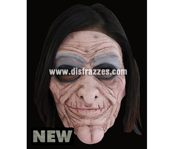 Máscara Old Lady de latex. Alta calidad. Fabricada en látex artesanalmente por una empresa que hace efectos especiales para Hollywood. Máscara de Vieja de latex para Halloween. La boca se mueve cuando hablas.