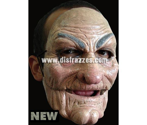 Máscara Old Man de latex. Alta calidad. Fabricada en látex artesanalmente por una empresa que hace efectos especiales para Hollywood. Máscara de Viejo de latex para Halloween. La boca se mueve cuando hablas.