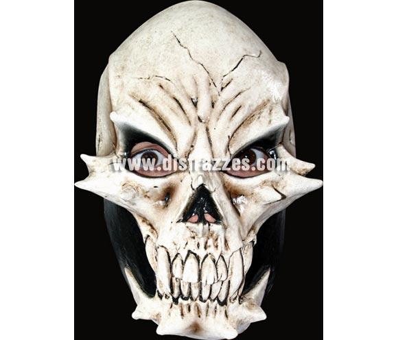 Máscara Devil Skull de látex. Alta calidad. Fabricada en látex artesanalmente por una empresa que hace efectos especiales para Hollywood. Máscara de Calavera demoniaca de latex.