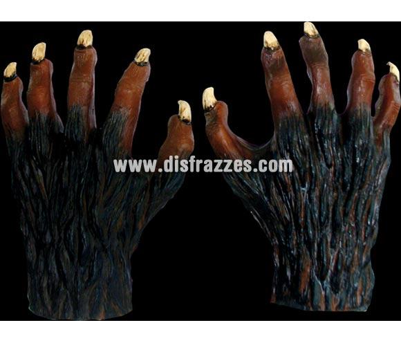 Manos de Hombre Lobo de látex para Halloween. Alta calidad. Fabricadas en látex artesanalmente por una empresa que hace efectos especiales para Hollywood.