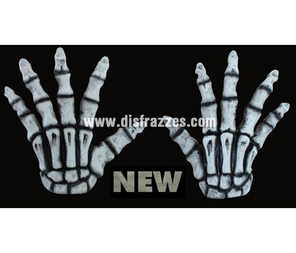Manos de Esqueleto blancas de latex para Halloween. Alta calidad. Fabricadas en látex artesanalmente por una empresa que hace efectos especiales para Hollywood.