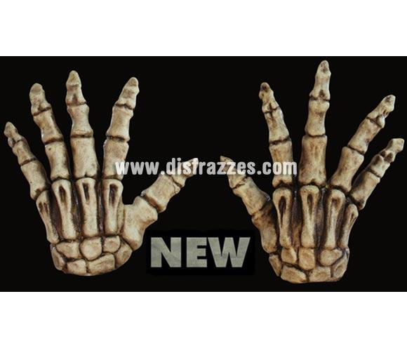 Manos de Esqueleto de color hueso de latex para Halloween. Alta calidad. Fabricadas en látex artesanalmente por una empresa que hace efectos especiales para Hollywood.