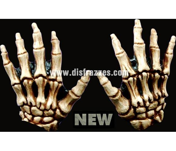 Manos de Esqueleto infantiles de color hueso de latex. Alta calidad. Fabricadas en látex artesanalmente por una empresa que hace efectos especiales para Hollywood.