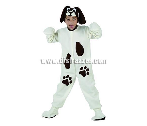 Disfraz de Perro para niños de 3 a 4 años. Incluye traje, capucha y cubrepies.