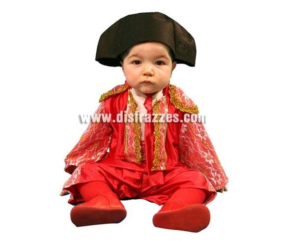 Disfraz de Torero para bebés de 12 a 24 meses. Incluye pantalón, chaqueta, fajín, corbata y montera.