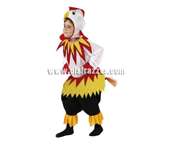 Disfraz de Gallo para niños de 5 a 6 años. Incluye disfraz completo.