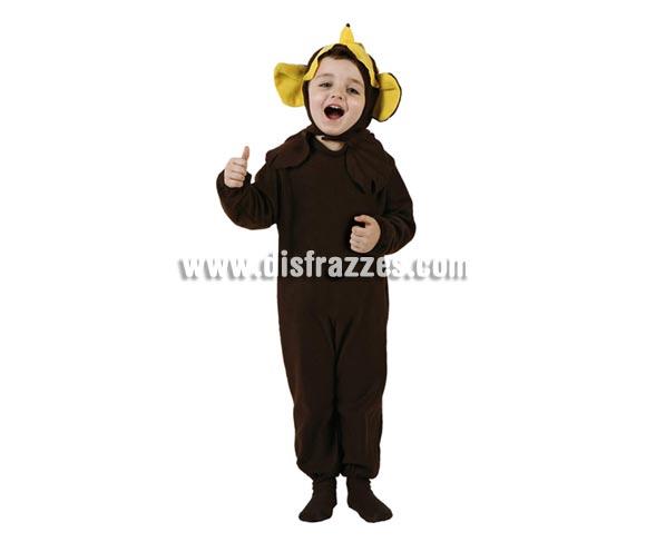 Disfraz muy barato de Mono para bebés de 12 a 24 meses. Incluye mono y capucha.