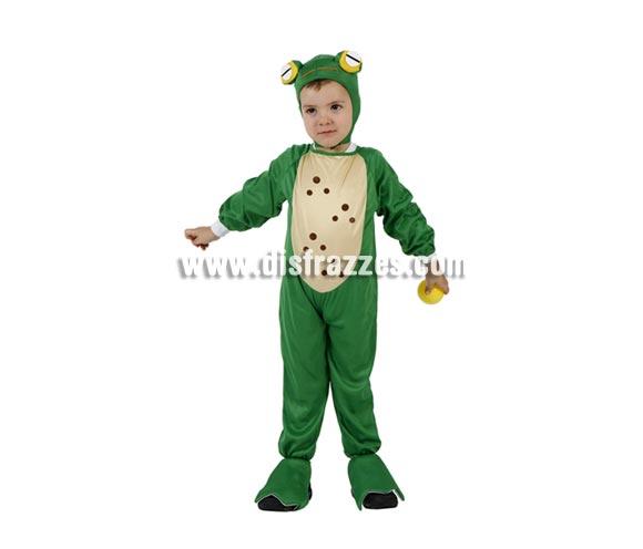 Disfraz muy barato de Rana para niños de 5 a 6 años. Incluye disfraz completo.