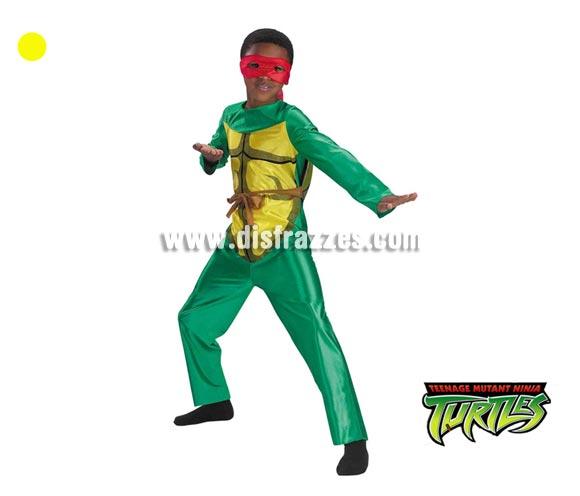 Disfraz de Las Tortugas Ninja para niños de 5 a 7 años. Incluye traje completo. Un disfraz con licencia ideal para regalar en Navidad o Reyes Magos o en cualquier fecha del año.