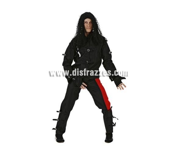 Disfraz de Rey del Pop para hombre. Talla 1 ó talla S = 48/52. Incluye chaqueta, pantalón y guantes. Para ir igual que Michael Jackson.