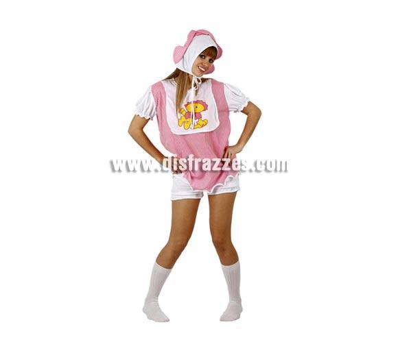 Disfraz de Bebé travieso para mujer. Talla 2 ó talla M-L = 38/42. Incluye gorro, camisa y pantalón. La pareja de éste disfraz es la ref. 94221AT.