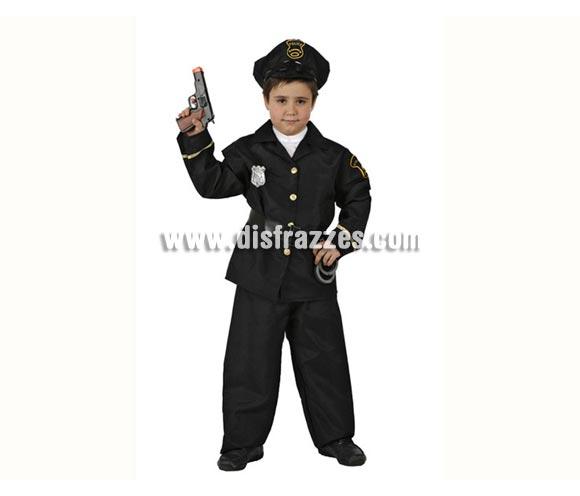 Disfraz de Policía para niños de 5 a 6 años. Pistolas y Esposas NO incluidas, podrás verlas en la sección de Accesorios.