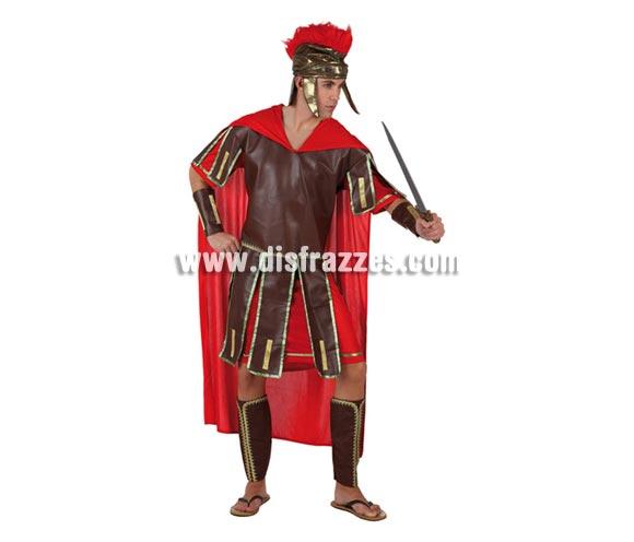Disfraz de Centurión Romano para hombre. Talla 2 ó talla standar M-L = 52/54. Incluye túnica, casco, cubrebrazos y cubrebotas. Perfecto para Navidad. Disfraz de Guerrero Romano para hombre.