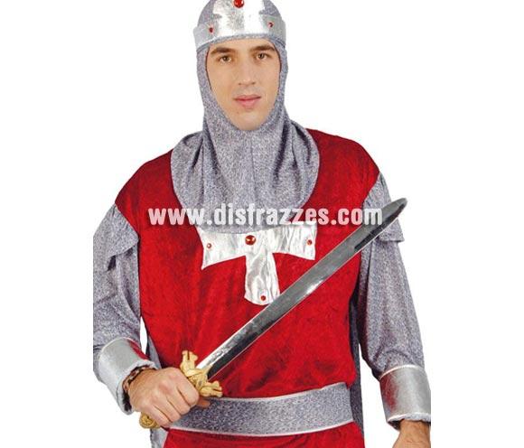 Espada metalizada de Caballero Medieval de 62 cm.