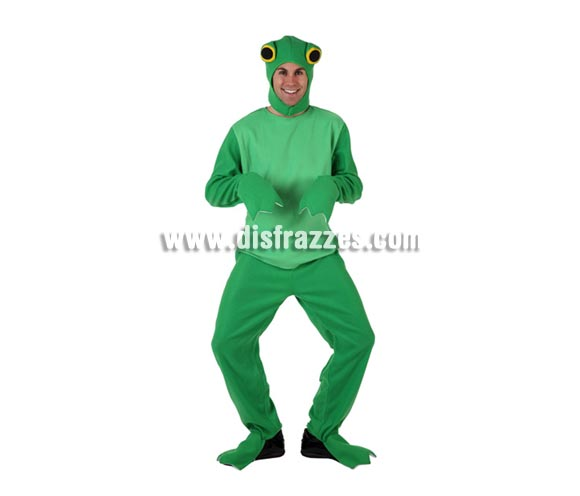 Disfraz barato de Rana para hombre. Talla Standar M-L = 52/54. Incluye mono y gorro.