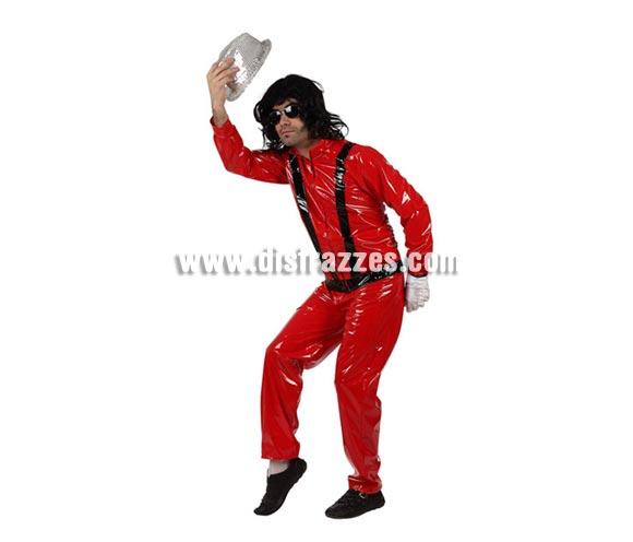 Disfraz de Rockero para hombre. Talla 3 ó talla XL 54/58. Incluye chaqueta y pantalón. Para imitar a Michael Jackson.