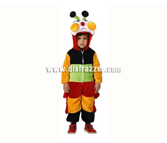 Disfraz de Oruga multicolor para niños de 3 a 4 años. Incluye disfraz completo.