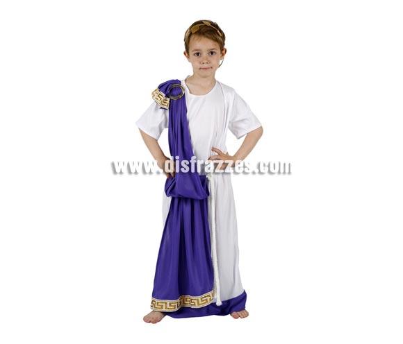 Disfraz de Romano con túnica para niños de 5 a 6 años. Incluye traje completo.