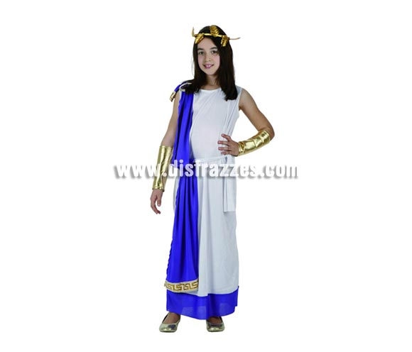 Disfraz de Romana con túnica para niñas de 5 a 6 años. Incluye traje completo.