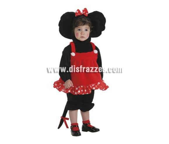 Disfraz de Ratita para bebés hasta 18 meses. Incluye  pantalón, camisa, vestido y cabeza.Para jugar a ser Minnie.