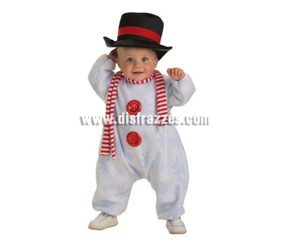 Disfraz de Muñeco de Nieve para bebés hasta 18 meses.