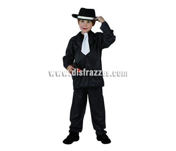 Disfraz barato de Ganster para niños de 7 a 9 años