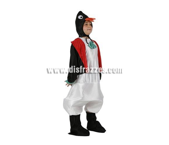 Disfraz de Pingüino para niños de 5 a 6 años. Incluye traje completo.