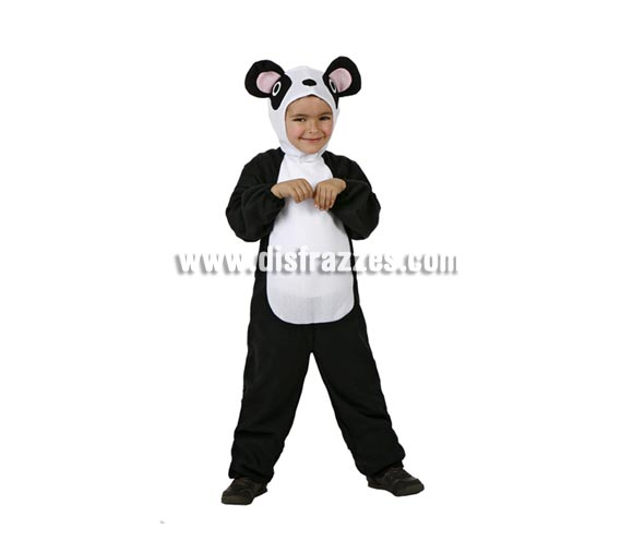 Disfraz de Oso Panda para bebés de 12 a 24 meses. Incluye mono con capucha.