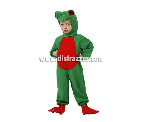 Disfraz de Rana para niños de 5 a 6 años. Incluye disfraz completo.