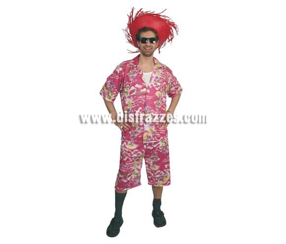 Disfraz de Turista hombre adulto. Talla única 52/54. Incluye camisa y pantalón. Sombrero NO incluido, podrás verlo en la sección Complementos. Disfraz de Turista o también valdría como Hawaiano para hombre. Ideal para Despedidas de Soltero y para disfrazarse en verano.