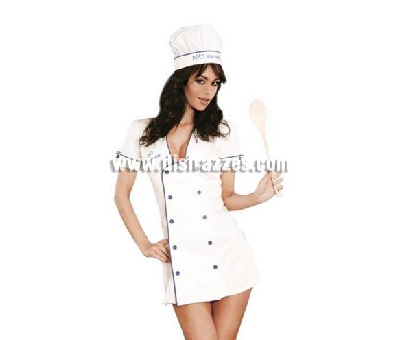 Disfraz de Cocinera Sexy Show. Altísima calidad. Incluye vestido y gorro. Disponible en varias tallas.
