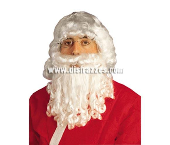 Barba, bigote y peluca de Papa Noel para Navidad.