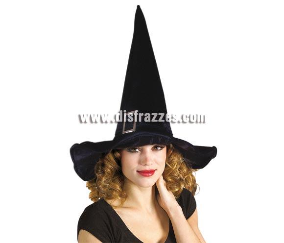 Sombrero de Bruja lujo con hebilla para Halloween.